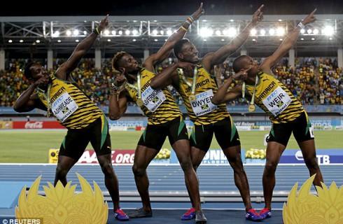 Сборная Ямайки победила в эстафете