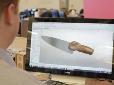 Нож NextGen. Компьютерная модель ножа