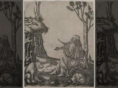 Гравюра с Леонардо да Винчи