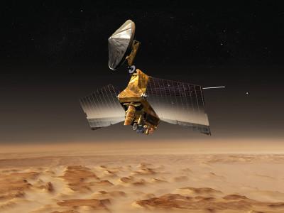 Залежи стекла на Марсе. Mars Reconnaissance Orbiter