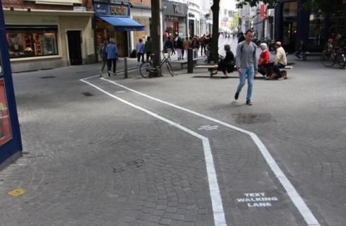 Бельгия оборудует дорожки для любителей смартфонов