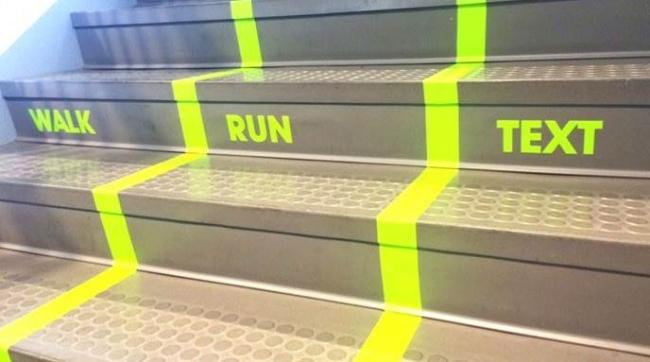 Университет Юты ввел многополосное движение на лестницах