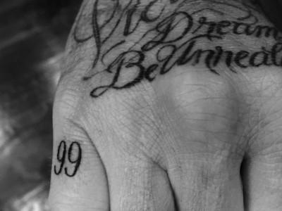 Татуировка Дэвида Бекхема