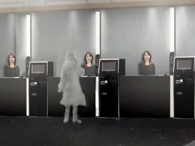 Роботы в отеле на ресепшен