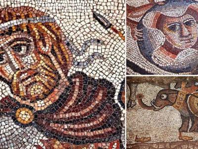 Библейскую мозаику нашли при раскопках