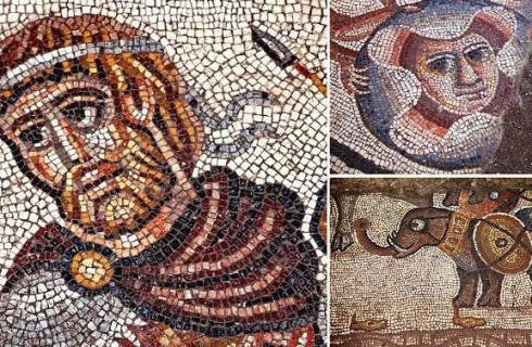 Ученые нашли библейскую мозаику со слонами