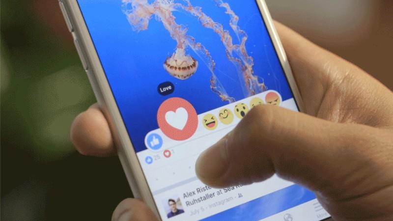 Facebook добавляет реакции