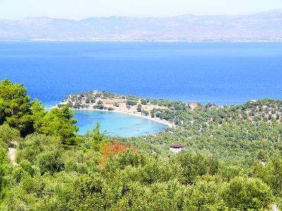 Древний остров в Греции