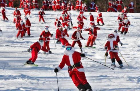 Санта встал на лыжи
