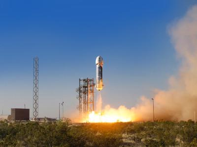 Повторная посадка ракеты New Shepard