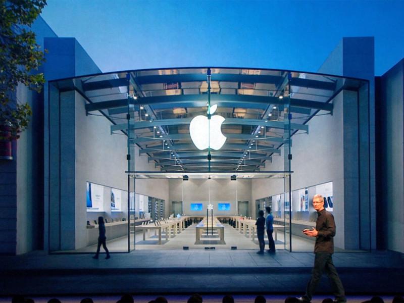 Акции Apple упали на 30 пунктов