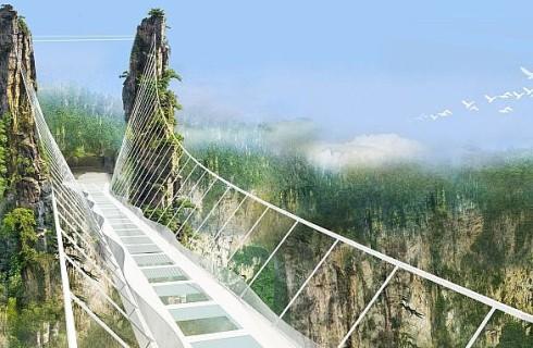Китай строит прозрачный мост