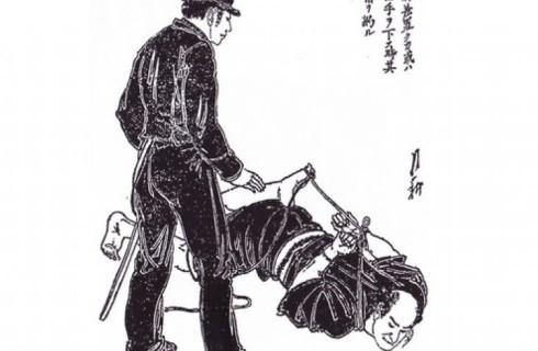Самураи помогают полицейским