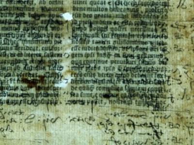 хранится в библиотеке Ламбетского дворца и фрагмент надписей