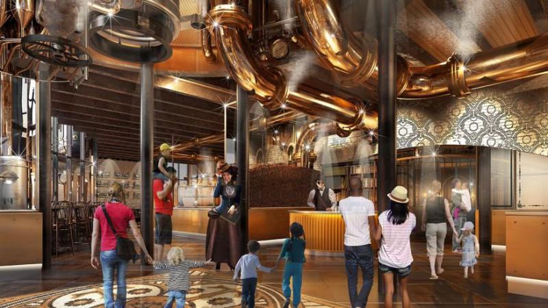 Шоколадная фабрика Вонка ждет гостей
