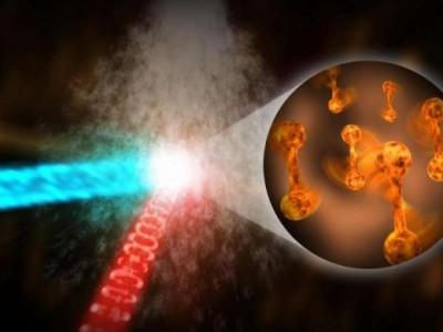 Облучение ксеноновых нанокластеров