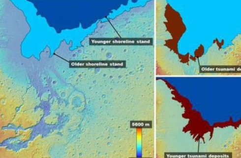 Цунами на Марсе изменили ландшафт планеты