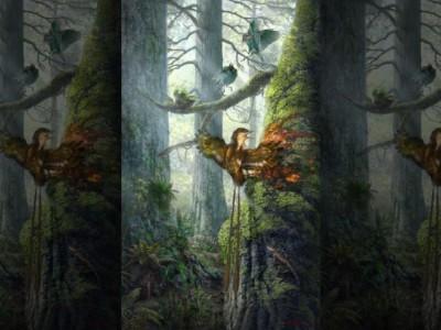 Останки птицы. Реконструкция древних событий