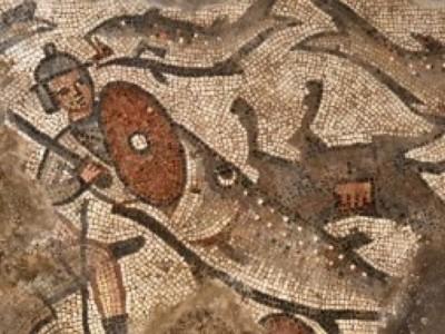 Древняя мозаика с библейскими сюжетами