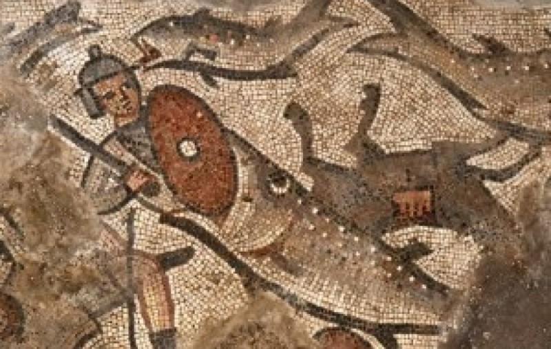 Редкая мозаика найдена в древней синагоге