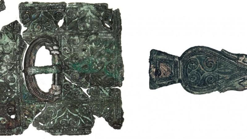 Бронзовый ремень IV века нашли в Англии