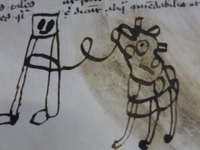 Детские рисунки в древней книге