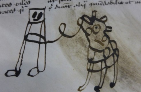 Дети украсили скучную средневековую книгу