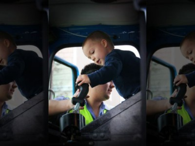 Детские мечты: Итан управляет мусоровозом