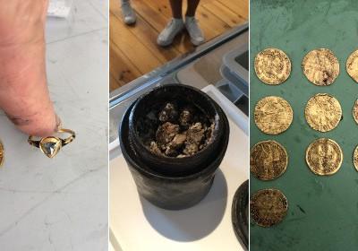 Древний сыр и монеты с судна