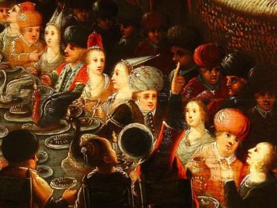 """Еда на древних полотнах: F.Franken, """"Пир Валтазара"""", картина XVI века"""