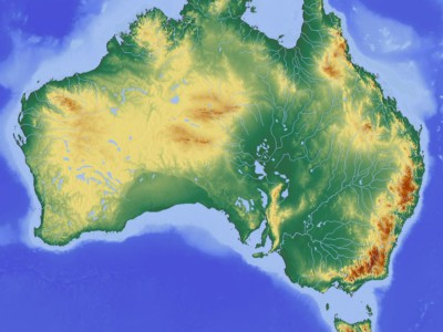 Австралия сместилась