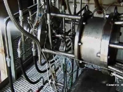 Экологически чистый двигатель для ракет. Испытание