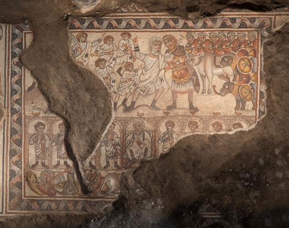 Редкую мозаику обнаружили в Израиле