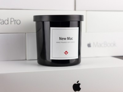 Свеча с запахом Macbook