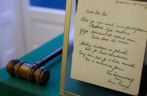 Письмо Анны Франк бьет рекорды