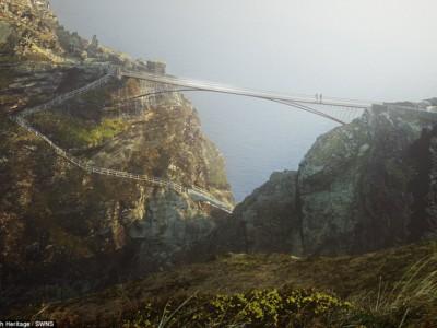 Мост короля Артура к замку Тинтагель