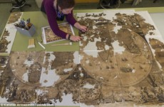 Пачка тряпок из трубы оказалась редкой картой XVII века