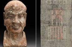 Скульптура скрывала древнюю банкноту