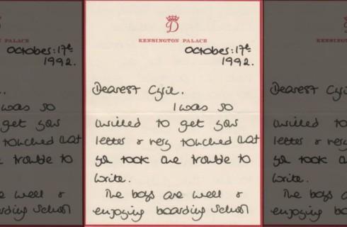 Письма Дианы ушли с молотка