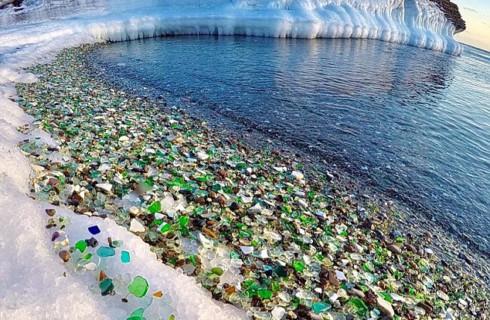 Море превратило свалку в красивейшее место