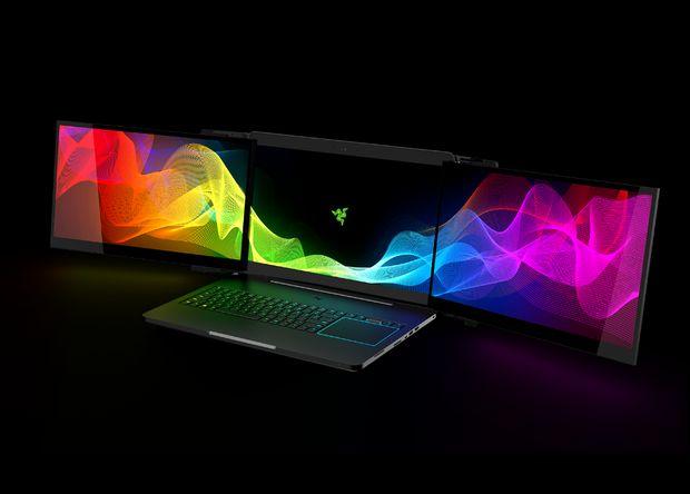 Razer создала ноутбук с тремя мониторами