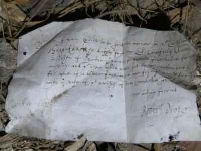 400-летние письма . Письмо со списком продуктов
