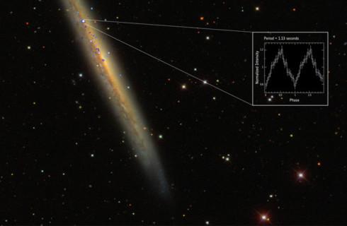 Европейцы нашли самый яркий пульсар Вселенной