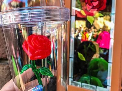 Бокал с розой