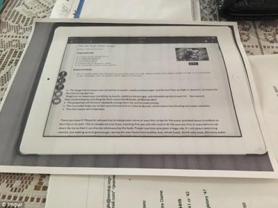 Скан экрана iPad