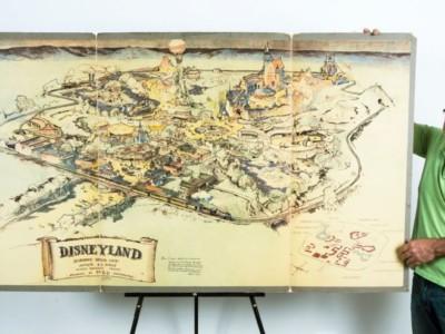 Первую карту Диснейленда выставили на продажу