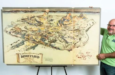Оригинальная карта Disneyland уйдет с молотка