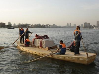 Реконструкция перевозки камней по Нилу