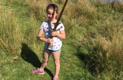 Британская девочка нашла свой Экскалибур