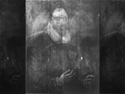 Рентгеновский снимок портрета сэра Джона Мейтленда,